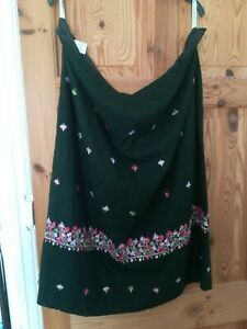 Ladies Ann Harvey Lined Embroidered Skirt Size 24/26