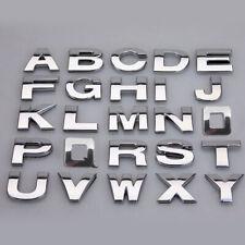 A-Z Alphabet Letters Car Stickers Self Adhesive Car Badge Emblem 3D Chrome 25mm,