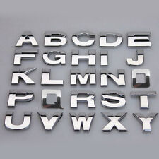 A Z Alphabet Letters Car Stickers Self Adhesive Car Badge Emblem 3d Chrome 25mm Fits 2013 Kia Sportage
