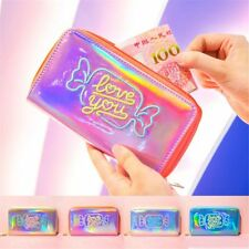 Fashion Women Hologram Laser Clutch Wallet Coin Purse Metallic Card Holder