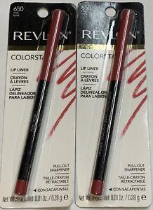 (2) TWO Revlon Colorstay Lip Liner, 650 Pink