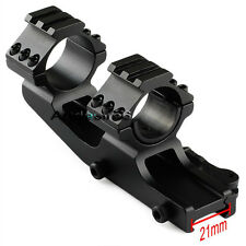 Offset Dual rings Cantilever Rifle Scope Mount Picatinny QD Cam Locks 30/25.4mm