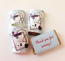 50 MEDICAL NURSE DOCTOR MINI CANDY BAR WRAPPERS PARTY FAVOR