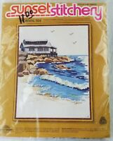 "Sunset Stitchery Cross Stitch Kit Morning Tide 14""x18"" New sealed Needlepoint"