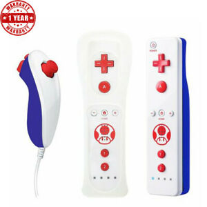 Motion Plus Controller Remote Nunchuck for Nintendo Wii Wiimote Built in Motion