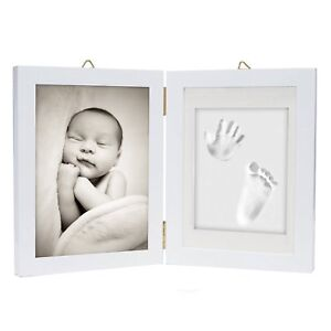Baby Hand Foot Print Casting Mould Kit Photo Frame Christening Gift Keepsake