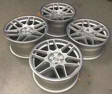 """18"""" 3SDM 0.09 MATT ruote in lega d'argento 5X112 per VW Golf MK5 MK6 & AUDI A3"""