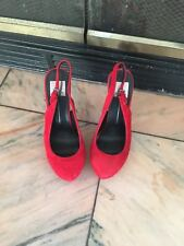 Dolce Vita Size 7 1/2 Red Suede Slingbacks