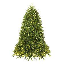7.5ft Pre-lit PVC Christmas Fir Tree Hinged 8 Flash Mode w/700 Light