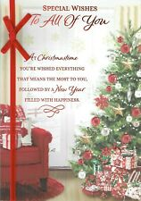 Special Wishes TO ALL OF YOU - Quality Large Christmas Card Tree Design