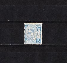 MONACO   prince  Albert 1er  5c  bleu     de 1891/94   num: 13  *