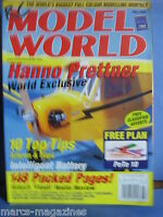 RCMW RC MODEL WORLD MAY 2000 PETE 10 PLAN RED PIDGEON THUNDER TIGER CUB