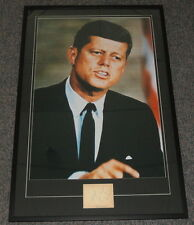John F Kennedy JFK Signed Framed 29x44 Photo Poster Display JSA Full LOA