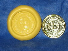 Coin Push Mold Flexible Resin Clay Candy Food Safe Silicone  #673 Chocolate Wax