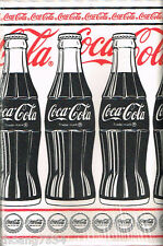 GENUINE Vintage Collectible Red Black Coca Cola Coke Bottles Wall paper Border