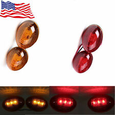 4X FIT 1999-2010 FOR Ford F350 Side Fender Dually Bed Marker LED Lights US