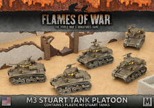 Flames of War NUOVO CON SCATOLA M3 STUART LIGHT TANK PLATOON (Plastica) UBX56