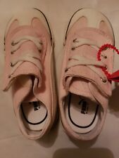 Girls Puma trainers. Pink & White, with black trim.  Infant UK 8. New with box.