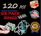 NEW USA 120 Pack Six Pack Ringers for 12 oz Can Beer Soda Liquor Plastic 6 rings