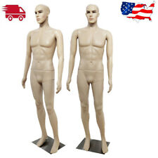 Male Mannequin Full Body Pe Realistic Shop Display Head Turns Dress Form Model
