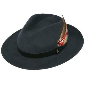 Joules Fedora Felt Hat in French Navy