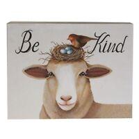BE KIND So Sweet SHEEP Box Sign Shelf Sitter Americana Primitive FARM HOUSE