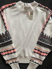 Pilcro @ Anthropologie Nina Aztec Embroidered Sweatshirt Jumper Size XS RRP £90