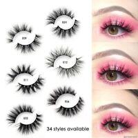 3d Mink False Eyelashes 100% Cruelty Free Natural Reusable Handmade Lash Makeup