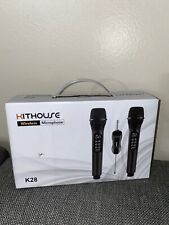 NEW* Kithouse Wireless Microphone With Rechargeable Bluetooth Receiver  BlacK
