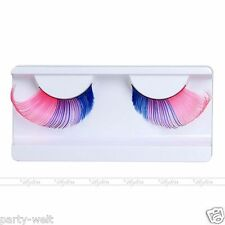 Pink+Blue Fancy False Eyelashes Thick Long Colored Eyelashes Handmade Eye Lashes