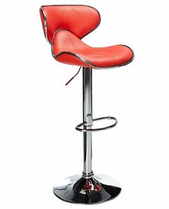 BRAND NEW UNIQUE HORSE BAR STOOL CAFETERIA CHAIR - RED