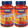 2 x Now Foods Tribulus 1000 mg 90 Tabs 45% Saponins - Testosterone Boost - FRESH