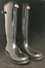 Hunter Women's Boots RaiClassic Tall Black  9 Knee Waterproof Classic High Gloss