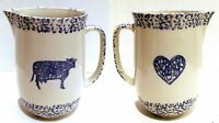 Tienshan Folk Craft Milk Pitcher, Water Pitcher, Sponge Dinnerware, Pottery, Cow