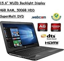 "HP 15.6"" HD WLED Backlit Display Laptop, AMD A6-7310 Quad-Core APU 2GHz, 4GB RAM"