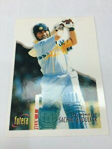 1996 Futera World Cup Cricket Trading Card Base Card #34 -Sachin Tendulkar-Excel