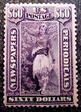 Buffalo Stamps,  Scott #PR32, $60 Violet Newspaper, Mint NH/OG & VF, CV= $11,700