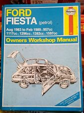 Ford Fiesta petrol haynes manual 1983 - 1989 UK SELLER