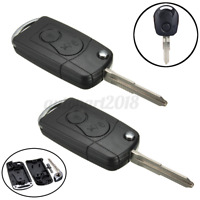 2x 2 Buttons Remote Key Case Shell FOB Fit For Ssangyong Actyon SUV Rexton Kyron