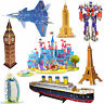 3D PUZZLES Tower Bridge Jigsaw Pirate Ship Frigate Puzzle 3D Bedroom Kitchen NEW
