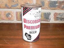 Vintage Wisconsin Premium Flat Top Beer Can~Very Good Condition~Waukesha, WI
