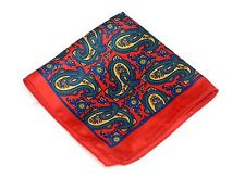 Lord R Colton Masterworks Pocket Square - Prague Red Silk - $75 Retail New