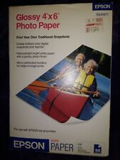 """New Box of 50 Sheets Epson Glossy 4"""" x 6"""" Photo Paper for Ink Jet Printers TQ1"""