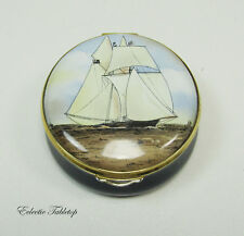 Staffordshire Enamels Limited Edition Cambria Trinket Box 1987 America'S Cup