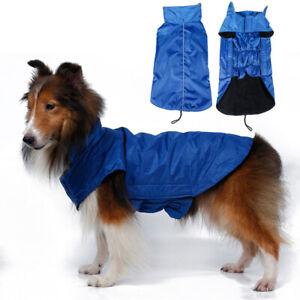 Waterproof Dog Coat fleece lined reflective Elasticated Outdoor Jacket For Pets