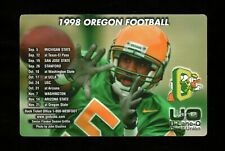 >orig. 1998 Oregon Ducks **MAGNET FOOTBALL SCHEDULE** Damon Griffin Photo!