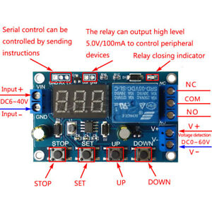 Battery Charger Discharger Board Under Over Voltage Protection LED Module 6- 40V