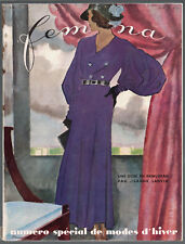 FEMINA Magazine ~ October 1931 ~ Mourgue ~ Vintage French Fashion Art Deco