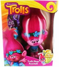 "New Trolls Zuru Keychain Clip Anywhere 8"" Doll + Hair Brush Nib DreamWorks Movie"