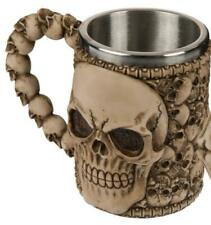 Skull Beer Mug Skull from Poly with Laddle and Skull, New